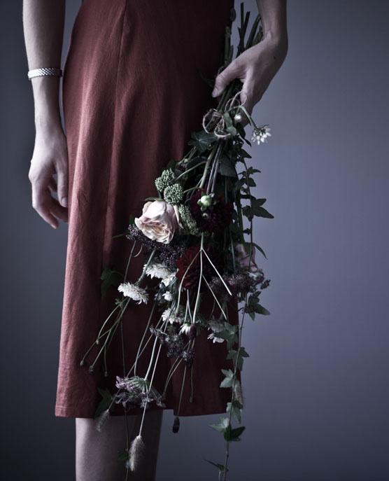 Blommor i present