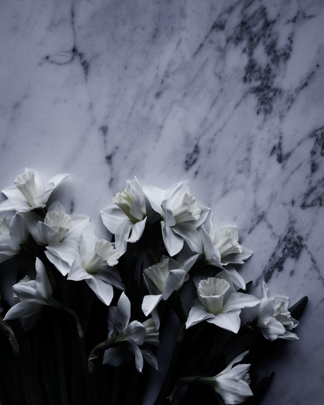 Negativ yta med marmor