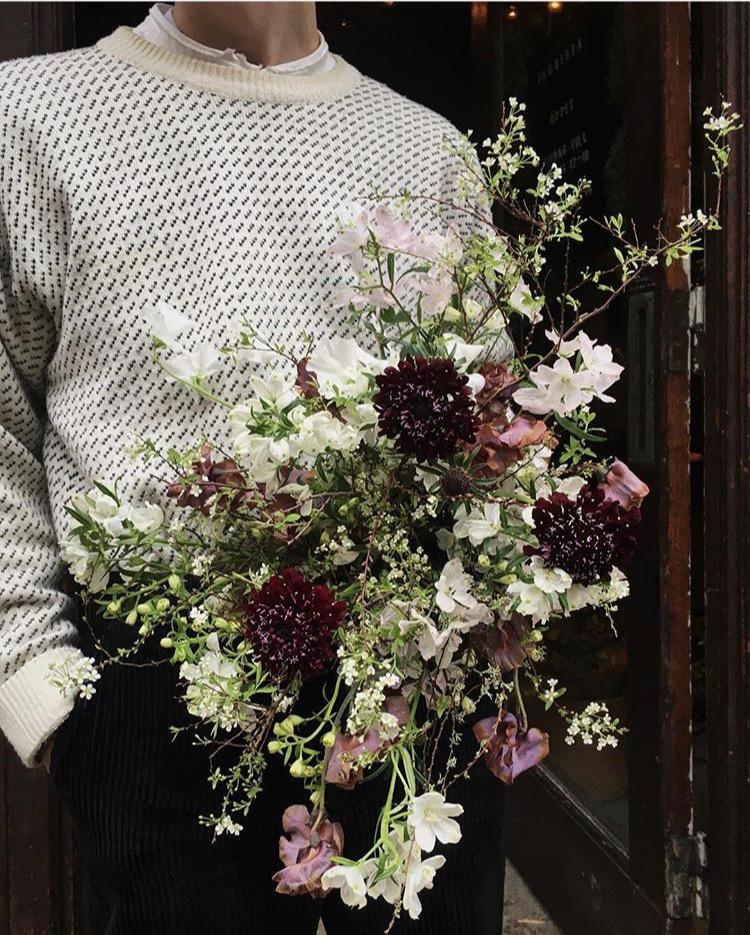 Brudbukett från en blomsteräng