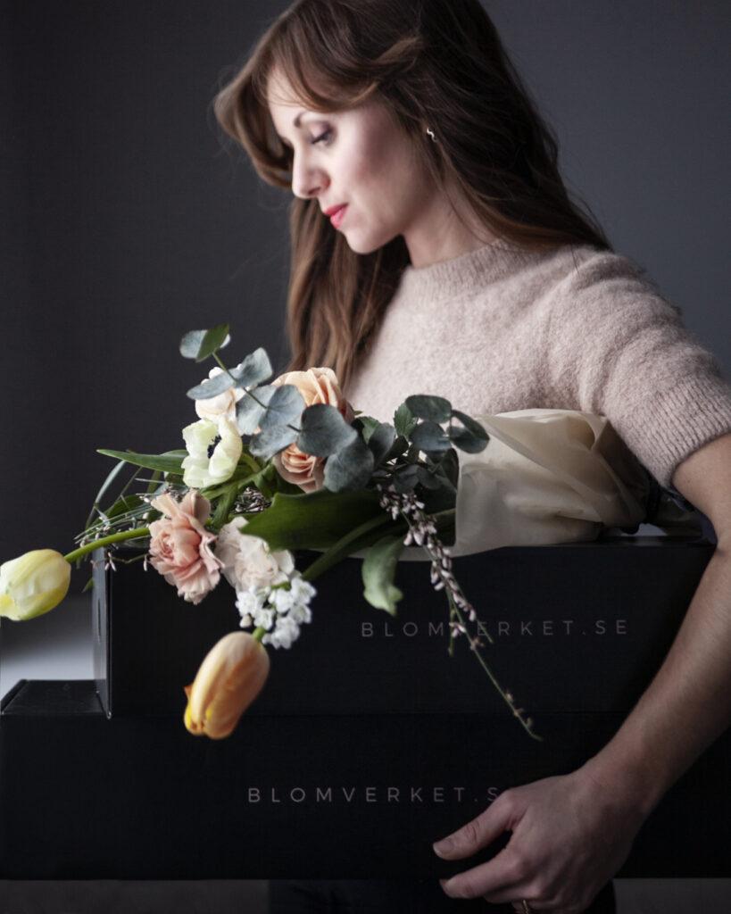 Din blomprenumeration levereras i lyxig box
